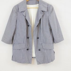 3 for $10 SALE Vintage 1970s Checked Jacket Blazer